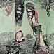 Autor: Katarína VAVROVÁ, Akademická maliarka, Name of work: ExLibris H. Yamaguchi, Technique: ručne kolorovaný lept, Motif: figured, nudes, Size: 13x10 cm, Year: 2011