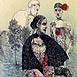 Autor: Katarína VAVROVÁ, Akademická maliarka, Názov diela: ExLibris  GILBERT en LIEVE VANDERMOERE, Technika: ručne kolorovaný lept, Motív: figurálne, akty, Rozmery: 15x10 cm, Rok: 2011