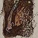 Autor: Júlia PIAČKOVÁ, Akademická maliarka, Názov diela: Enigma III, Technika: kombinácia grafických a maliarskych techník, Motív: ostatné nezaradené, Rozmery: 12x9 cm, Rok: 1995
