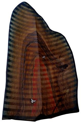 Arpád PÁL - Idem za láskou (Following love) (2011), Technique: Kombinácia techník na orechovom dreve, Size: 77x53 cm