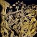 Autor: Igor PIAČKA, Akademický maliar, Názov diela: Masky, Technika: suchá ihla, mezzotinta, Motív: figurálne, akty, Rozmery: 98x65cm, Rok: 1996
