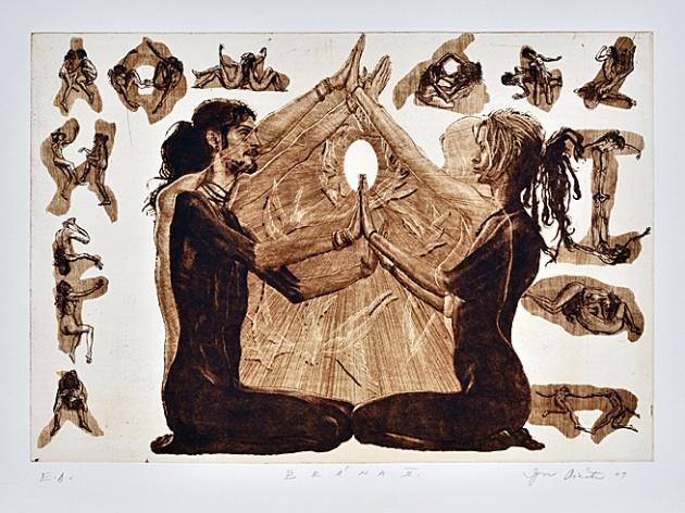 Igor PIAČKA, Akademický maliar - Brána II (2009), Technika: lept, suchá ihla, mezzotinta, Rozmery: 33,5x47,5