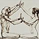 Autor: Igor PIAČKA, Akademický maliar, Name of work: Brána I, Technique: suchá ihla, Motif: figured, nudes, Size: 33,5x47,5cm, Year: 2009