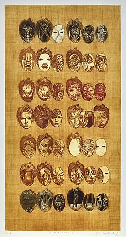Igor PIAČKA, Akademický maliar - Sharon I (2003), Technique: lept, suchá ihla, mezzotinta, Size: 65x33cm