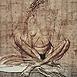 Autor: Igor PIAČKA, Akademický maliar, Názov diela: Sediaca, Technika: suchá ihla, mezzotinta, Motív: figurálne, akty, Rozmery: 29x27cm, Rok: 0