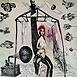 Autor: Katarína VAVROVÁ, Akademická maliarka, Názov diela: Záhrada, Technika: ručne kolorovaný lept, Motív: figurálne, akty, Rozmery: 31x29,5cm, Rok: 2011