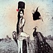 Autor: Katarína VAVROVÁ, Akademická maliarka, Name of work: V nebi ako z kameňa, Technique: kolorovaný lept, Motif: figured, nudes, Size: 29,5x29,5cm, Year: 2011