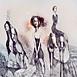 Autor: Katarína VAVROVÁ, Akademická maliarka, Názov diela: Navždy ďaleko, Technika: ručne kolorovaný lept, Motív: figurálne, akty, Rozmery: 50x59,5cm, Rok: 2011