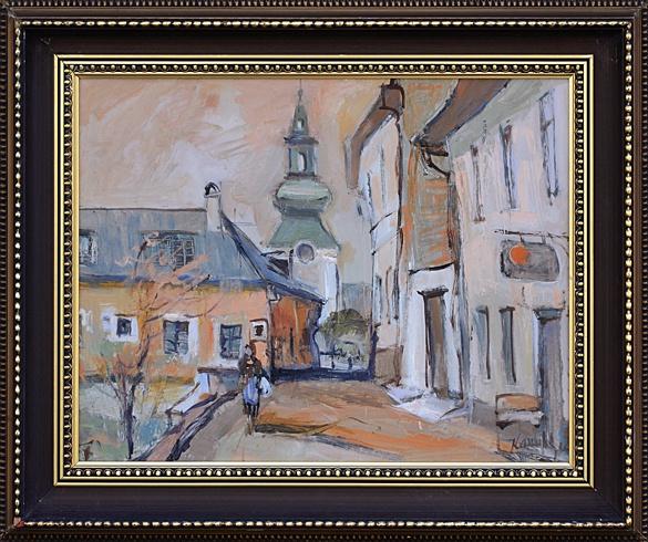 Jozef KAMINSKÝ - Z jarmoku v Banskej Štiavnici (2006), Technika: olej, Rozmery: 40x50 cm