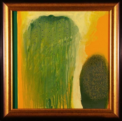 PaedDr. Jaro UHEL ArtD. - Smutná vŕba (2003), Technique: olej, akryl, Size: 50x50 cm