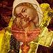 Autor: Milan KRAJČO, Ak. maliar, Názov diela: Matka a syn I, Technika: kombinovaná technika, Motív: abstraktné, Rozmery: 48x38cm, Rok: 2002