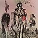 Autor: Katarína VAVROVÁ, Akademická maliarka, Názov diela: Príbehy Isabely Allende II, Technika: ručne kolorovaný lept, Motív: figurálne, akty, Rozmery: 30x25 cm, Rok: 2015