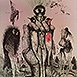 Autor: Katarína VAVROVÁ, Akademická maliarka, Name of work: Príbehy Isabell Allende I, Technique: ručne kolorovaný lept, Motif: figured, nudes, Size: 30x25 cm, Year: 2015