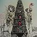 Autor: Katarína VAVROVÁ, Akademická maliarka, Názov diela: Sto rokov samoty I, Technika: ručne kolorovaný lept, Motív: figurálne, akty, Rozmery: 30x25 cm, Rok: 2015