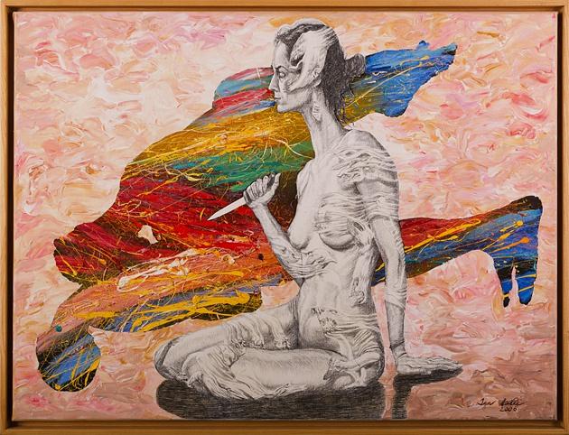 Igor PIAČKA, Akademický maliar - Žiarlivosť (2006), Technique: olej, Size: 60x80 cm