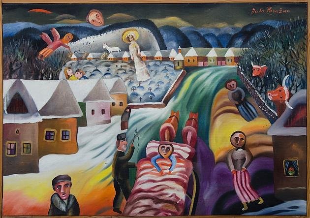 MUDr.  Július POVAŽAN - Predstavy (1973), Technika: olej, Rozmery: 47x70 cm