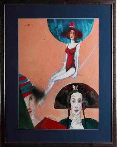 Milan VAVRO, Akademický maliar - Slnečný cirkus (2010), Technika: kombinovaná technika, Rozmery: 60x43 cm