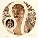 Autor: Igor PIAČKA, Akademický maliar, Názov diela: Lev, Technika: suchá ihla, mezotinta, Motív: figurálne, akty, Rozmery: 15x15 cm, Rok: 1991