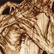 Autor: Igor PIAČKA, Akademický maliar, Názov diela: Vášeň, Technika: suchá ihla, mezotinta, Motív: figurálne, akty, Rozmery: 16x10 cm, Rok: 2002