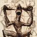 Autor: Igor PIAČKA, Akademický maliar, Name of work: Ničiteľ, Technique: suchá ihla, mezotinta, Motif: figured, nudes, Size: 16,5x11 cm, Year: 1999