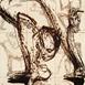 Autor: Igor PIAČKA, Akademický maliar, Názov diela: Túžba, Technika: suchá ihla, mezotinta, Motív: figurálne, akty, Rozmery: 16,5x11 cm, Rok: 0