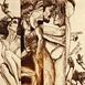 Autor: Igor PIAČKA, Akademický maliar, Name of work: Stretnutia, Technique: suchá ihla, Motif: figured, nudes, Size: 16x10 cm, Year: 2001