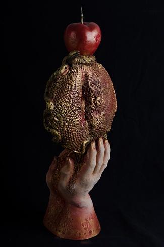 Milan KRAJČO, Ak. maliar - Svietnik lásky I (2012), Technika: kombinovaná technika, Rozmery: výška 52 cm