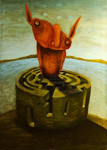 Fero LIPTÁK - Minotaurus, Technique: akryl, Size: 100x140 cm