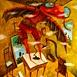 Autor: Fero LIPTÁK, Názov diela: Pokus o lietanie, Technika: akryl, Motív: figurálne, akty, Rozmery: 100x120 cm, Rok: 0