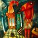 Autor: Fero LIPTÁK, Názov diela: Romeo a Júlia, Technika: akryl, Motív: figurálne, akty, Rozmery: 100x120 cm, Rok: 0