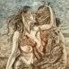 Autor: Igor PIAČKA, Akademický maliar, Názov diela: Hra o jablko, Technika: suchá ihla, Motív: figurálne, akty, Rozmery: 18x13 cm, Rok: 2010