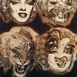 Autor: Igor PIAČKA, Akademický maliar, Názov diela: Marilyn, Technika: suchá ihla, Motív: figurálne, akty, Rozmery: 19,5x14,5 cm, Rok: 1998