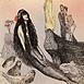 Autor: Katarína VAVROVÁ, Akademická maliarka, Názov diela: Andersen II Malá morská panna, Technika: ručne kolorovaný lept, Motív: figurálne, akty, Rozmery: 14,5x14,5 cm, Rok: 2013