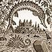 Autor: Peter KĽÚČIK, Ak. maliar, Názov diela: Bratislava - Ryby, Technika: lept, Motív: krajina, architektúra, Rozmery: 14,8x9,5 cm, Rok: 2012