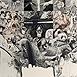 Autor: Dušan POLAKOVIČ, Akademický maliar, Názov diela: Pocta G.Durrellovi, Technika: lept, mezotinta, Motív: figurálne, akty, Rozmery: 53x38cm, Rok: 1988