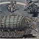 Autor: Dušan POLAKOVIČ, Akademický maliar, Názov diela: Pásavec, Technika: lept, mezotinta, Motív: figurálne, akty, Rozmery: 20x28,5 cm, Rok: 1983