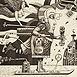 Autor: Dušan POLAKOVIČ, Akademický maliar, Názov diela: Ex Libris - Ivan Jamrich, Technika: lept, mezotinta, Motív: figurálne, akty, Rozmery: 14,5x14,5 cm, Rok: 2010