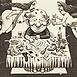 Autor: Dušan POLAKOVIČ, Akademický maliar, Názov diela: Ex Libris - Leo Bednárik, Technika: lept, mezotinta, Motív: figurálne, akty, Rozmery: 14,5x14,5 cm, Rok: 2004