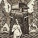 Autor: Dušan POLAKOVIČ, Akademický maliar, Názov diela: Ex Libris - Bratislava, Technika: lept, mezotinta, Motív: figurálne, akty, Rozmery: 14,5x12 cm, Rok: 1998