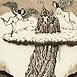 Autor: Dušan POLAKOVIČ, Akademický maliar, Názov diela: Ex Libris - Luigi Bergomi, Technika: lept, Motív: figurálne, akty, Rozmery: 15x10 cm, Rok: 1995