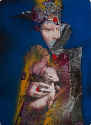Milan VAVRO, Akademický maliar - Premaľba II (2009), Technika: premaľba, Rozmery: 29x21 cm