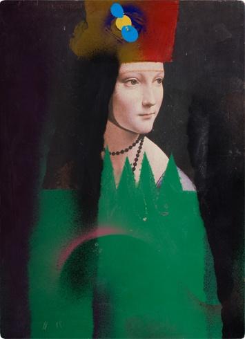 Milan VAVRO, Akademický maliar - Premaľba V (2009), Technika: premaľba, Rozmery: 29x21 cm