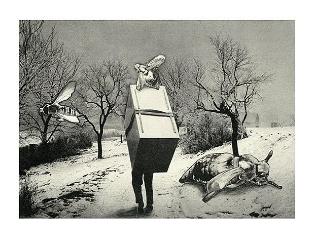 Albert  MARENČIN - Koláž (2013), Technika: inkjet print z originálnej koláže