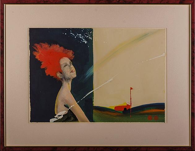 Milan VAVRO, Akademický maliar - Tieň vetra (2006), Technique: kombinovaná technika, Size: 39x57 cm