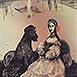 Autor: Katarína VAVROVÁ, Akademická maliarka, Názov diela: Sisi, Technika: ručne kolorovaný lept, Motív: figurálne, akty, Rozmery: 15x10 cm, Rok: 2013