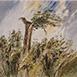 Autor: Ján KUCHTA, Názov diela: Krajina XV, Technika: akvarel, Motív: krajina, architektúra, Rozmery: 45x66 cm, Rok: 2010