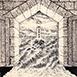 Autor: Zdeno BRÁZDIL, Akad. mal., Názov diela: Maják, Technika: lept, mezotinta, Motív: krajina, architektúra, Rozmery: 12x8,5 cm, Rok: 2001