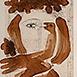 Autor: Milan LUKÁČ, Názov diela: Dievča z Montmartre, Technika: ručne kolorovaný lept, Motív: ostatné nezaradené, Rozmery: 22x34 cm, Rok: 1986