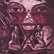 Autor: Igor  CVACHO, Názov diela: Strážkyňe času, Technika: kombinácia grafických techník, Motív: figurálne, akty, Rozmery: 25x17 cm, Rok: 2013