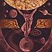 Autor: Igor  CVACHO, Názov diela: Nebeský orloj, Technika: kombinácia grafických techník, Motív: figurálne, akty, Rozmery: 25x17 cm, Rok: 2013